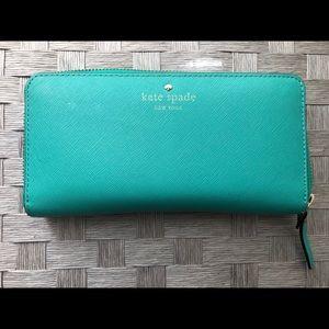 Blue/green Kate Spade Wallet
